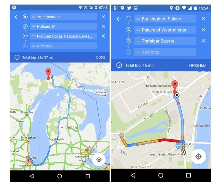 wiele punktow google maps